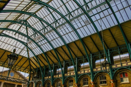 covent garden market: Roof of Covent Garden market in London, England