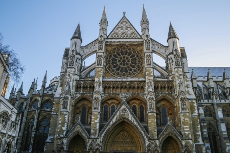 abbey: Side entrance of Westminster Abbey Stock Photo