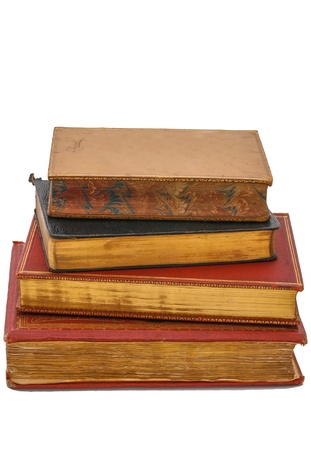 19th: Stack of antique books from the 19th century