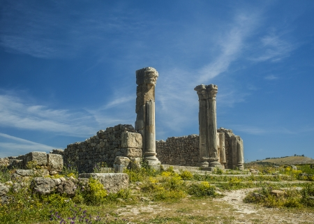 dorian: Volubilis is the best preserved Roman site in Morocco Stock Photo