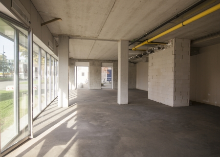 Inside a newly constructed building