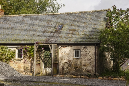 An old farm house in Scotland in decay photo