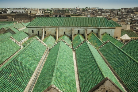 Roof of the University of al-Karaouine in Fez, Morocco, which is the oldest continually operating religious university in the world.