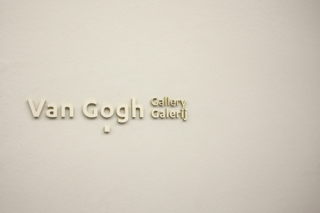 van gogh: Sign Van Gogh gallery in the Kroller Muller museum in Otterlo in the Netherlands where many paintings of van Gogh are exhibited since 1938. The Kroller Muller museum owns the second biggest collection of Van Gogh paintings Editorial