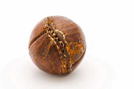 Original vintage cuir brun cinquantaine de baseball  Banque d'images - 24633756