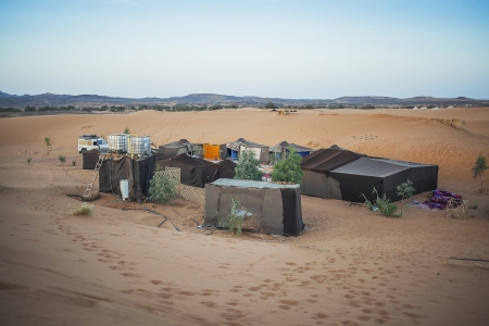 nomadic: Berber tents in the Sahara, Morocco