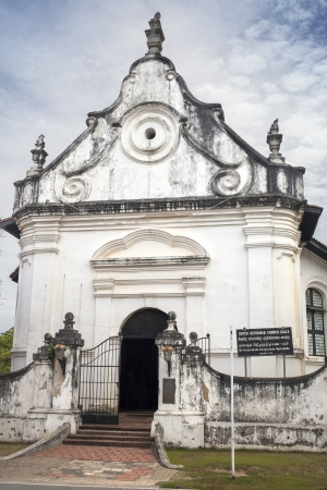 galle: The old Dutch reformed church of 1755 in the historic city Galle in Sri Lanka Stock Photo