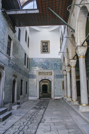 Hallway of the harem of Topkapi palace in Istanbul, turkey