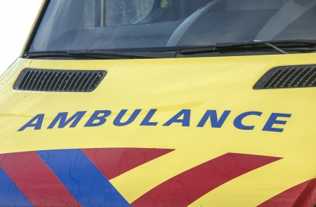 Ambulance auto in close-up