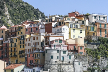 italian village: Town of Corniglia in Cinque terre in Italy