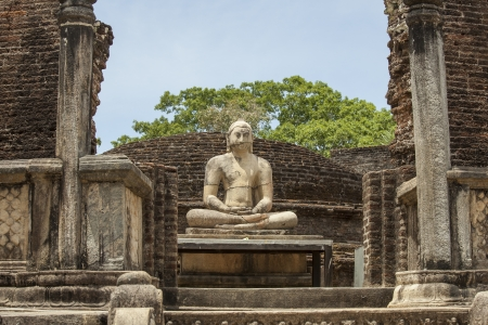 samadhi: Buddha statue close up in Vatadage, ancient city of Polonnaruwa, Sri Lanka. Vatadage is an ancient monument and it was built for the protection of stupa.