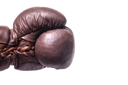 strenght: vintage boxing glove Stock Photo