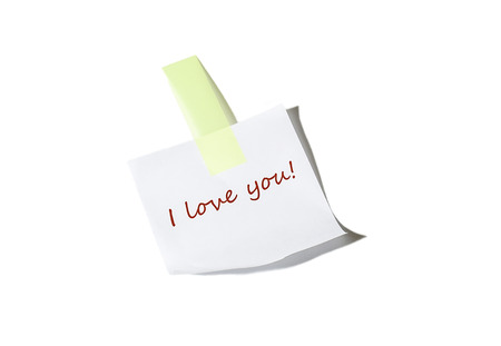 I love you note on white photo