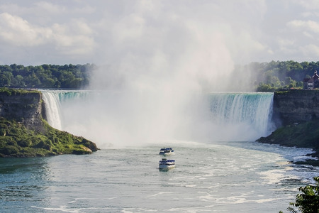 Niagara Falls with two excursion ships photo