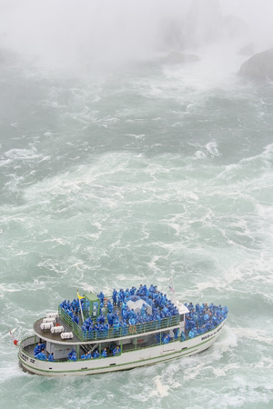Maid of the Mist Tour boat at Niagara Falls, USA.   photo