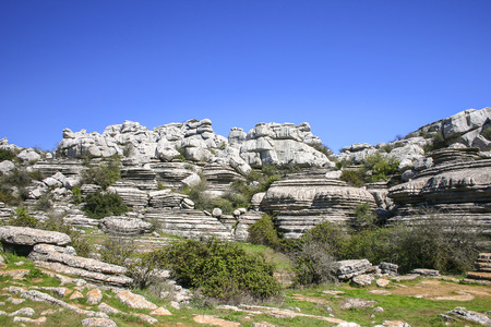 landforms: El Torcal de Antequera is a nature reserve in the Sierra del Torcal mountain range in southern Spain.It is known for its unusual landforms, and is one of the most impressive karst landscapes in Europe