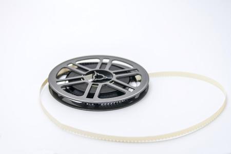 rollo pelicula: Carrete plástico pasado de moda película con película 8 mm