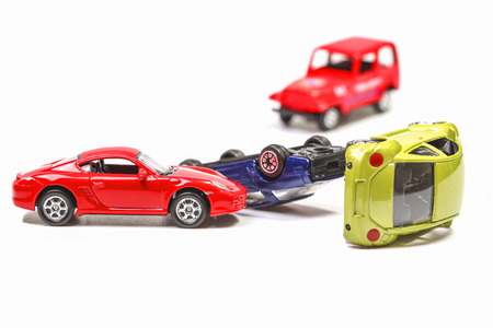 Car crash with toy cars photo