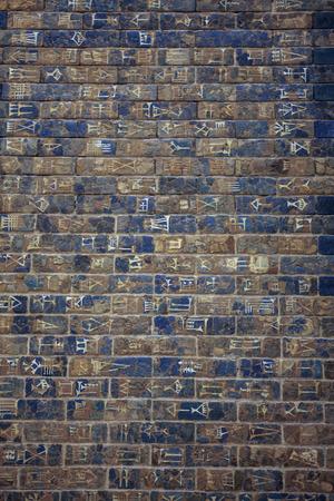 babylonian: Detalle de la pared de Ischtar de Babilonia