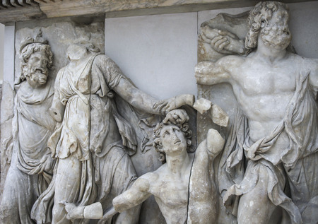Detail of the famous Pergamon Altar in the Pergamon museum in Berlin