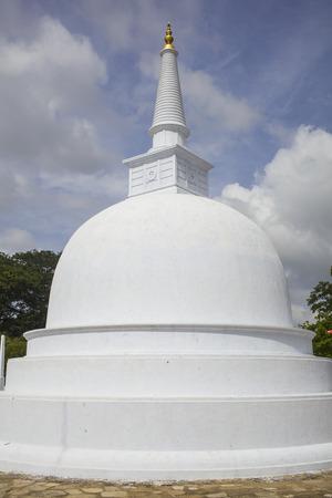 dagoba: Small stupa at Anuradhapura temple complex in Sri Lanka Stock Photo