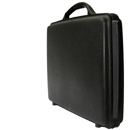 business case: Black business case op een witte achtergrond