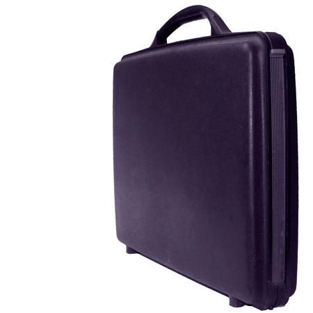 attache: Purple business case on a white background