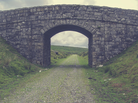 granite park: A granite bridge in Dartmoor National Park in Devon