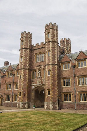cambridgeshire: Queens College Old Court and main gate