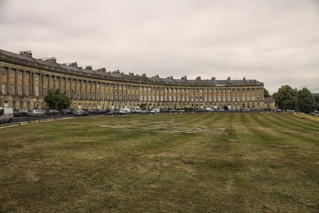 county somerset: Royal Crescent (architect John Wood the Younger, 1774) - street of 30 terraced houses laid out in a sweeping crescent in Bath. Bath is a city in ceremonial county of Somerset in South West England.