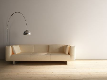 Couch to face a blank wall Stock Photo - 5468251