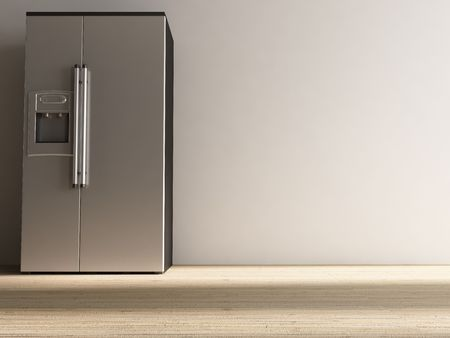refrigenerator to face a blank wall