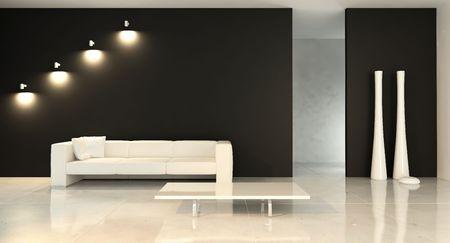 living room setting Standard-Bild