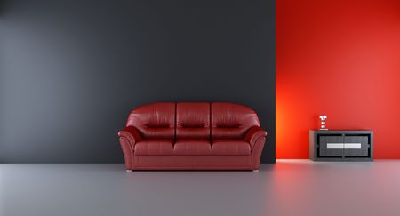 Couch to face a blank wall photo