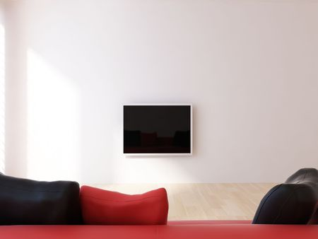 Living Room Setting with flatscreen photo