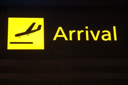 Arrival sign