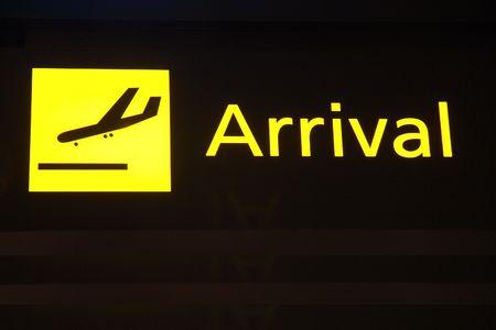 Arrival sign 版權商用圖片