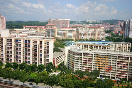 Housing in Singapore Stock Photo