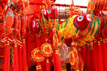 Chines New Year Decoration Stockfoto