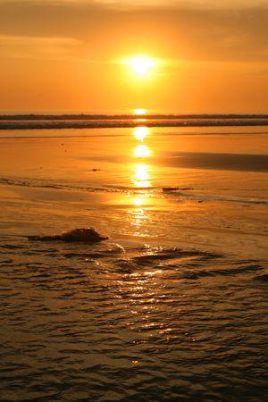 bali beach: Photo of a beautiful sun set in bali beach