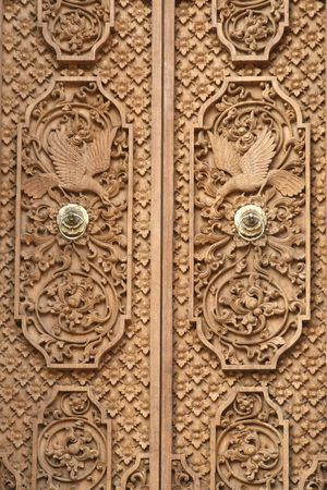 craft product: A nice carving door in Bali, indonesia.