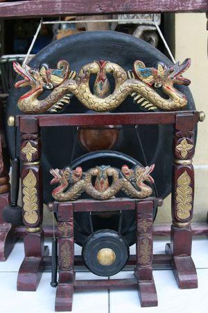 gamelan: Some Gamelan Music Instruments Stock Photo