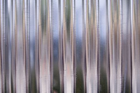 corrugated iron: Close up shot of the metal texture. Stock Photo