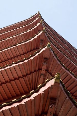 A look up shot of a Pagoda. Stock Photo - 5275611