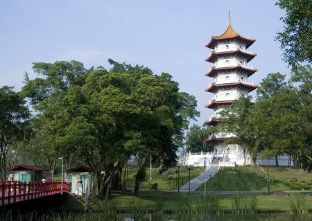 Shot of the Chinese garden in Singapore Stock Photo - 5275624