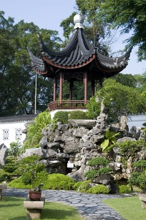 A little pavilion taken in the Chinese garden in Singapore photo