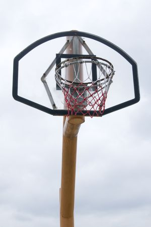 A basketball hoop with a white sky background Stock Photo - 5712537