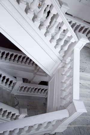 typically english: Photo of a stairway architecture in european style.