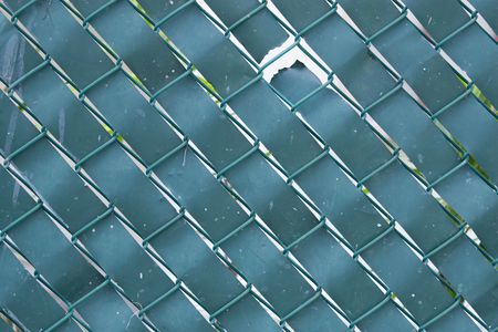 Background image of a chain link green fence. Stock Photo - 5986577