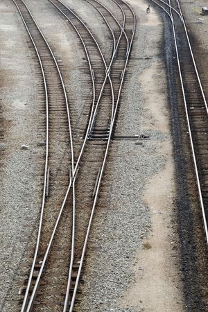 Shot of a few old railway tracks Stock Photo - 5986645